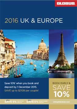 Globus Tours UK Europe 2016